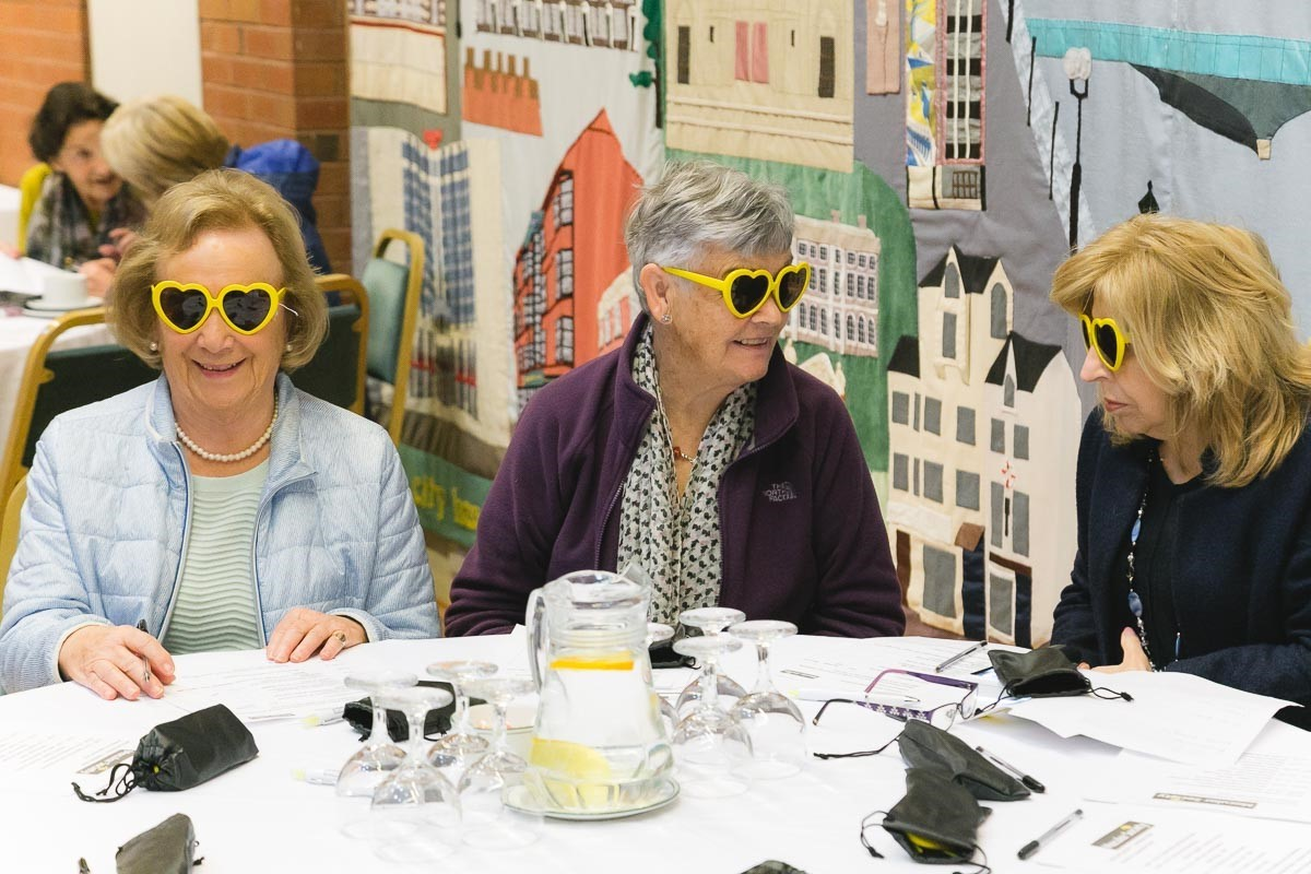 Peggy (middle) with fellow members of the Bangor Macular Group