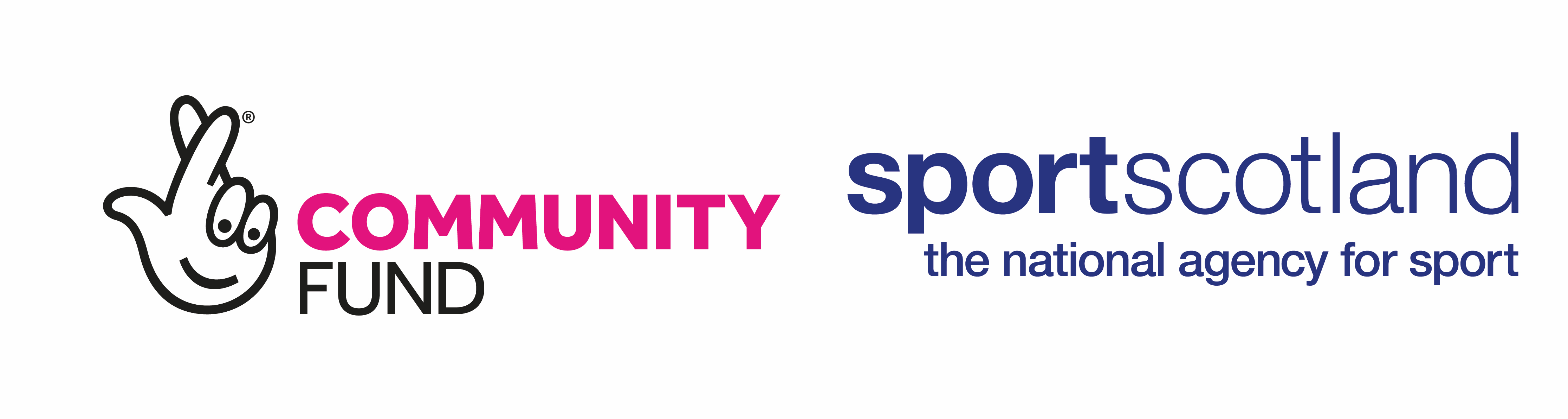 Logos of The National Lottery Community Fund and sportscotland